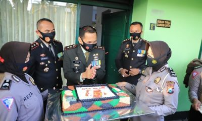 Perayaan HUT TNI ke-74 di Kodim 0809 Kediri.